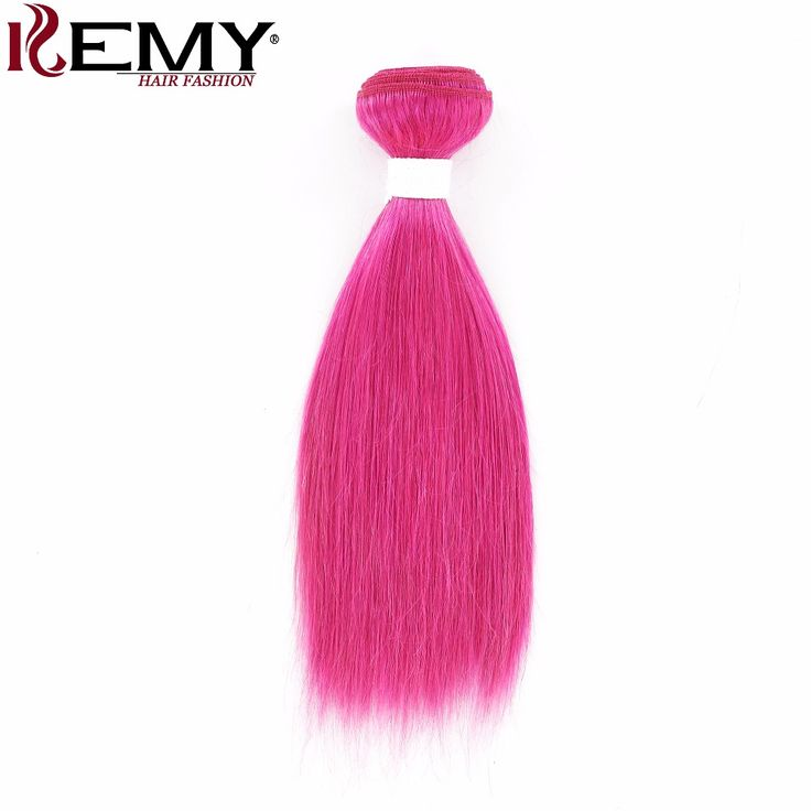 KEMY HAIR FASHION 1 Piece 100g Pre-Colored Human Hair Weaves Straight Rose Color 100% Brazilian Remy Human Hair Bundles 10inch. #KEMY #HAIR #FASHION #Piece #100g #Colored #Human #Hair #Weaves #Straight #Rose #Color #Brazilian