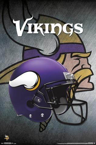 Minnesota Vikings - Helmet Sports Poster 22x34 RP14990 UPC882663049905