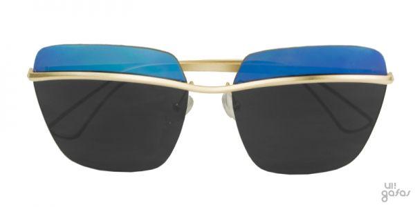 Óculos De Sol Quadrado Grande Inspired Com Lente Superior Espelhada || Ui! Gafas / Metallic - UI438