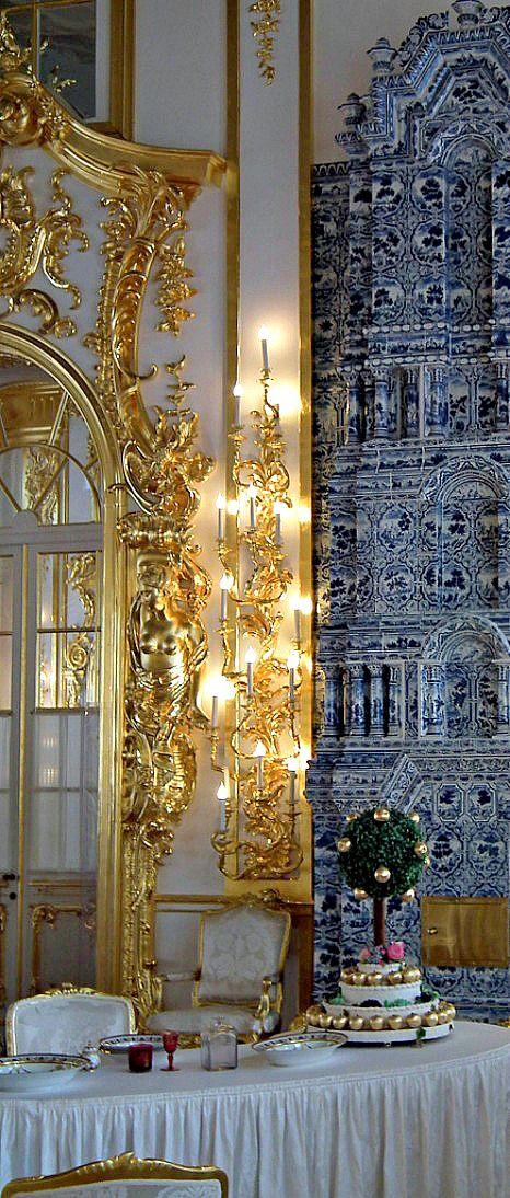 THE ROMANOVS RESIDENCES ~ Palace interior of the residence of Empress Catherine…