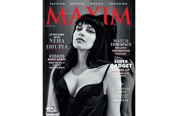 Neha Dhupia on Maxim cover