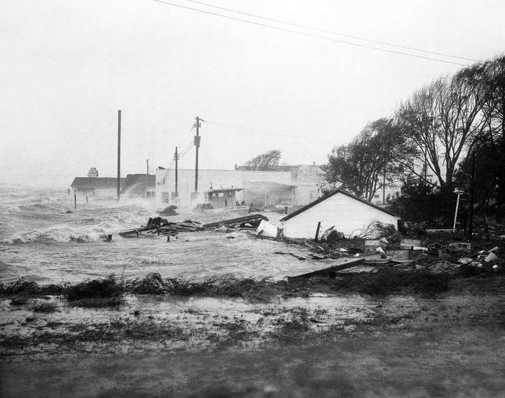 1954 - Hurricane Hazel Dates active: October 5 - 15 Peak classification: Category 4 Sustained wind speed: 130 mph (210 km/h) Areas affected: The Caribbean, Eastern United States Deaths: 581 Damage: $382 million (Pictured) High tides, whipped in by Hurricane Hazel, shatter boats and buildings in Swansboro, North Carolina, on Oct. 15, 1954.
