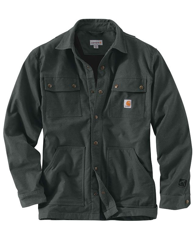 Carhartt Men's Shadow Full Swing Quick Duck Overland Shirt Jac #workwear, clothes that work, work wear, work clothes, tough, #Carhartt, shirt jacket