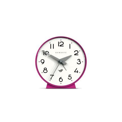 The Bubble Alarm Clock in Hot Pink by Newgate Clocks. A contemporary, space-age alarm clock with convex lens. Iconic British design | www.newgateclocks.com #homeware #decor #interior #home accessory