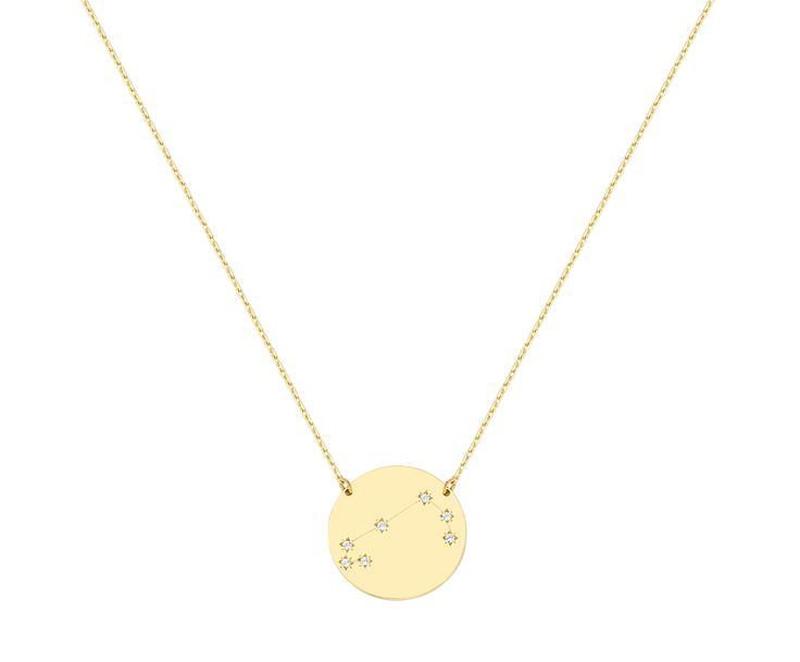 aries necklace in 9K