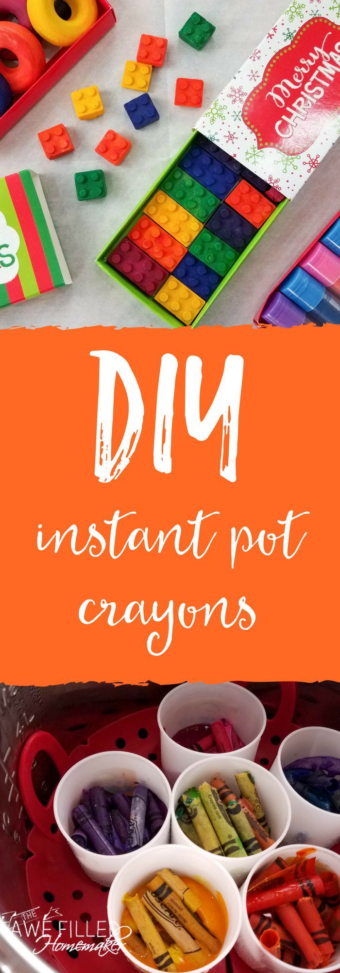 """I am so excited about this post! As a homeschool mom, blogger, and all around instant pot lover---I am beyond excited to share """"DIY Instant Pot Crayons!"""" Seriously- this project is so much fun! They are such a fun project and make great gifts! Kid tested...although they didn't eat them. ;) #InstantPot #InstantPotRecipes #DIY #KidsCraft #Crayons #homeschool via @AFHomemaker"""