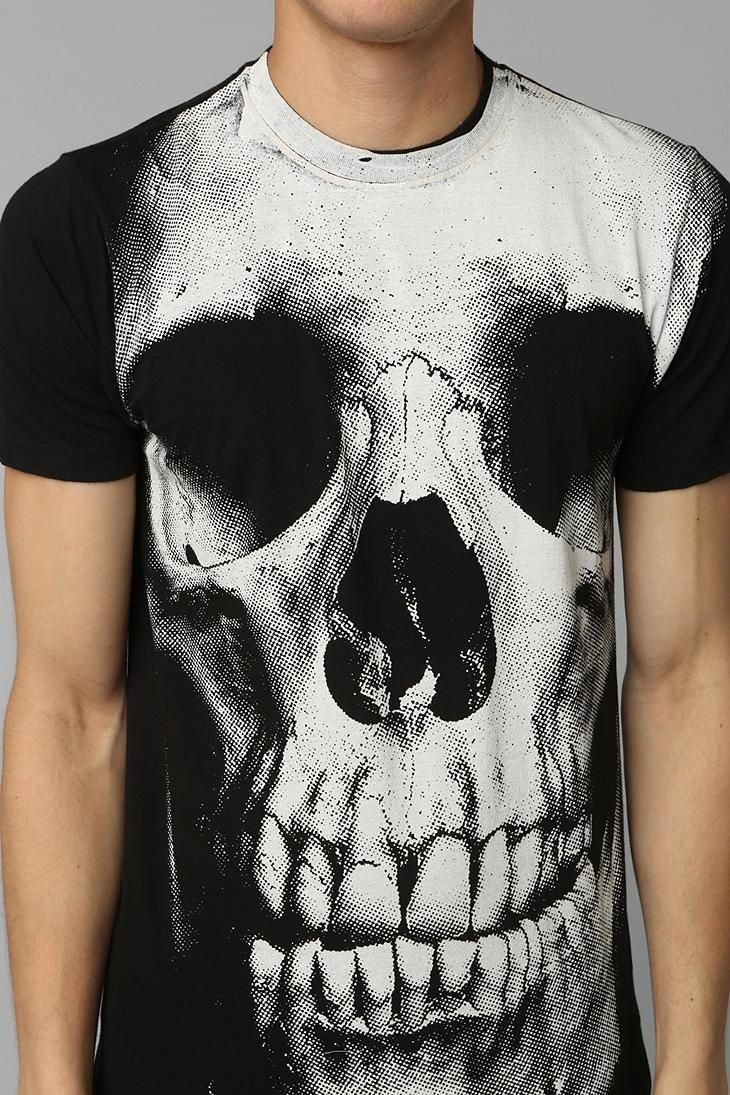 Ital tees bass culture and sound system clothing - Skull Allover Tee Urbanoutfitters