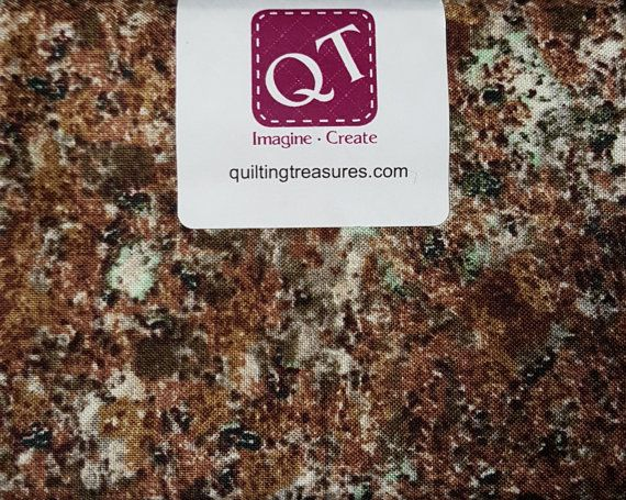 Fat Quarter, Granite, Naturals by Quilting Treasures, Landscape Fabric, Granite Fabric, Granite Fabric