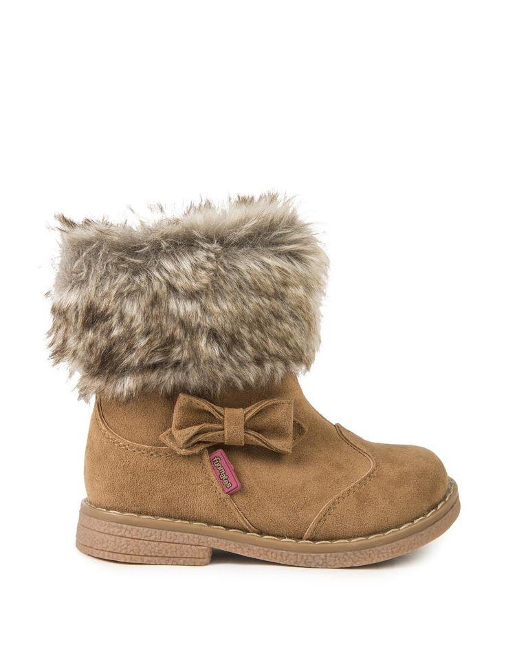 Fur Trim Boots