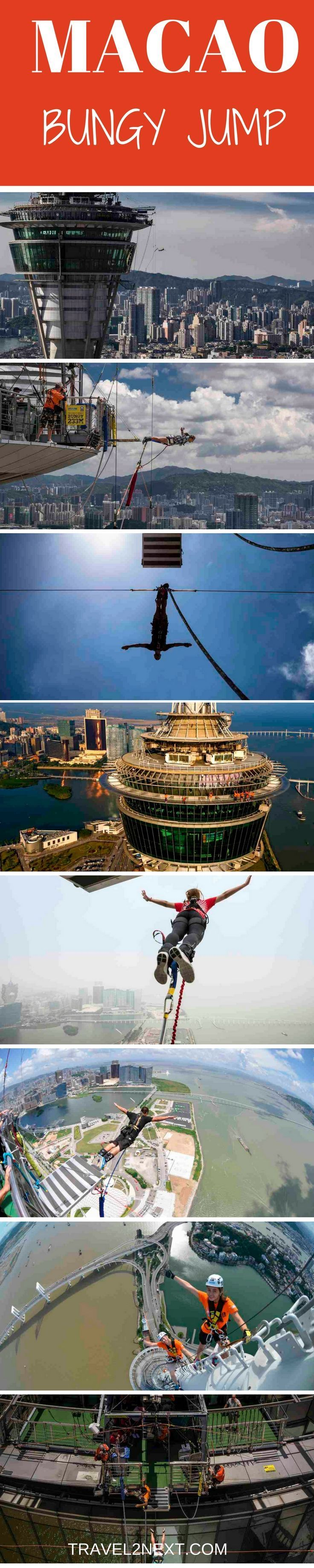Macau Bungy Jump – A blow by blow description of AJ Hacket''s Macau Tower bungee jump, the highest in the world.