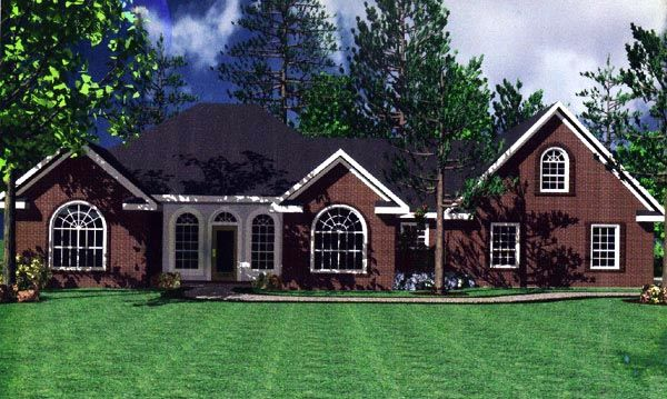 European French Country Ranch Traditional House Plan 59031