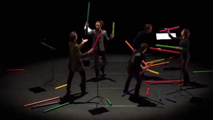 """This performance by Les Objets Volants is a wonderful mix of work and play... an exercise in """"juggling"""" that requires an immense amount of concentration and teamwork. In front of an audience in Luxeui"""