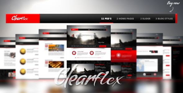 Clearflex PSD Templates . Clearflex has features such as High Resolution: No, Layered: Yes, Minimum Adobe CS Version: CS3, Pixel Dimensions: 1200x1838