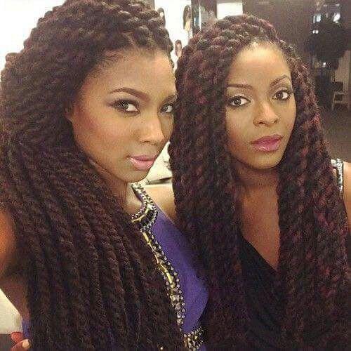 ... Braids on Pinterest Kinky twists, Purple braids and Purple box