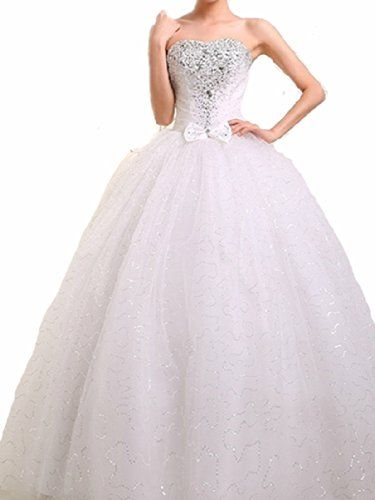 WT09 WHITE SIZE 8-14 Wedding Bride Dresses party full length prom gown ball dress robe (14, White) LondonProm http://www.amazon.co.uk/dp/B00KH61RF4/ref=cm_sw_r_pi_dp_RtM3tb0XQT9XASM3