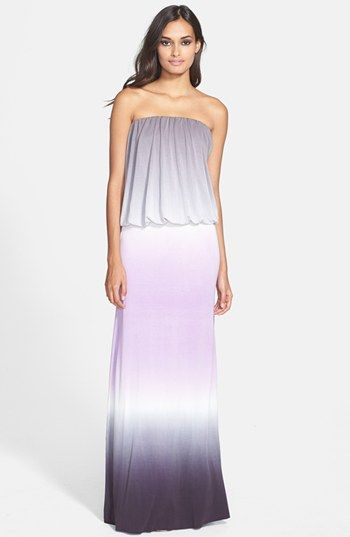 Young, Fabulous & Broke 'Sydney' Strapless Tie Dye Maxi ...