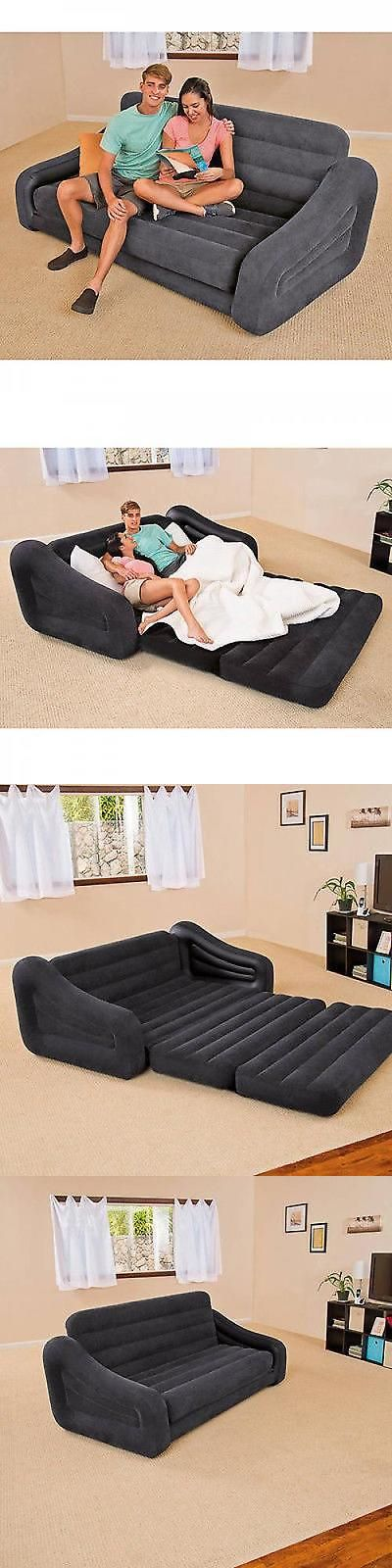 furniture: Couch Bed Sofa Sectional Sleeper Futon Living Room Furniture Loveseat Guest New BUY IT NOW ONLY: $60.97