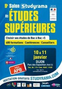 9e salon Studyrama de Dijon. Du 10 au 11 janvier 2014 à dijon.