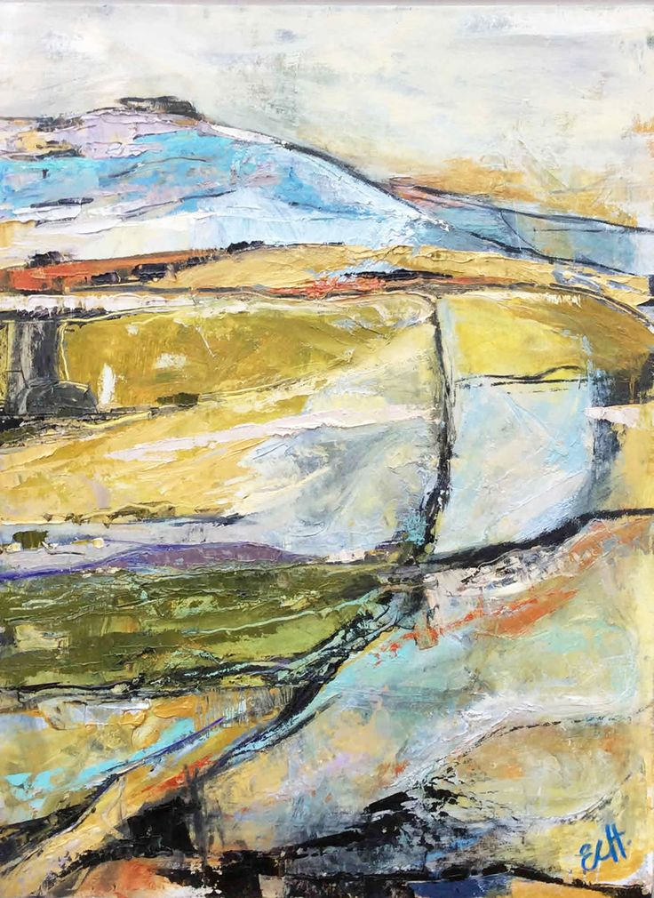 Abstract Early Morning Landscape Oil on Board 51 x 38 cm £ 1,450  #Art #Paintings #Landscapes