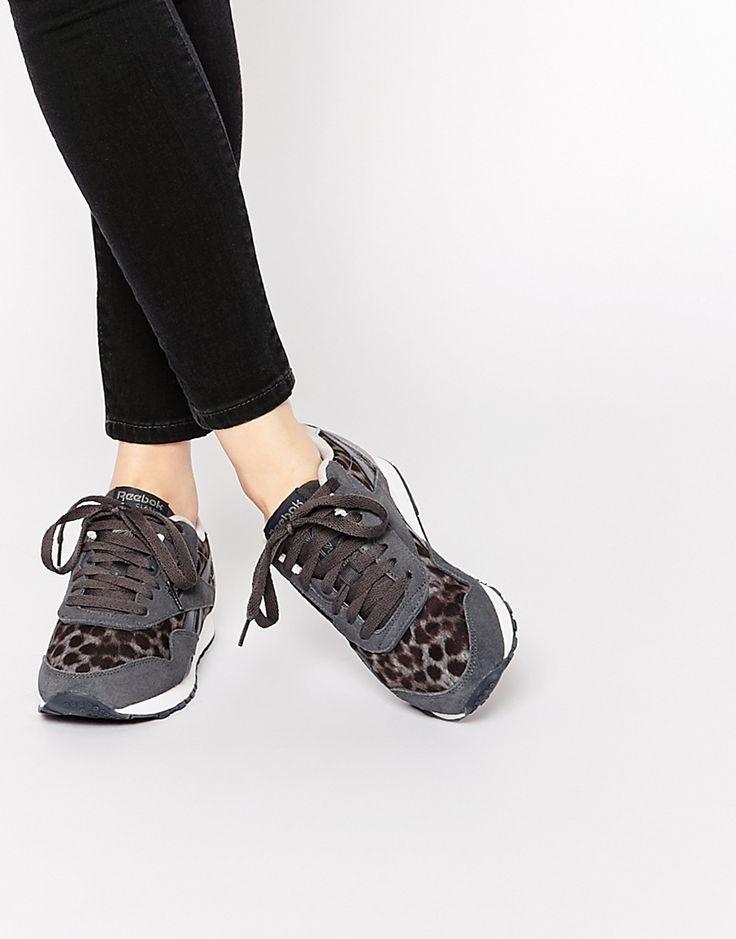 Zapatillas de deporte de nailon clásicas en gris salvaje de Reebook