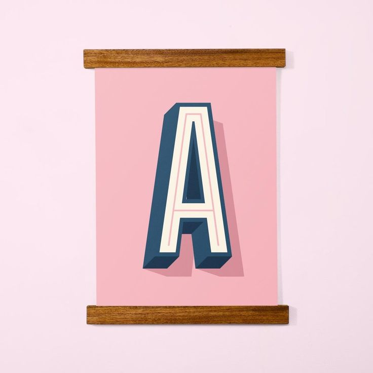 Letter Posters, Pink, A3 - Made of Sundays