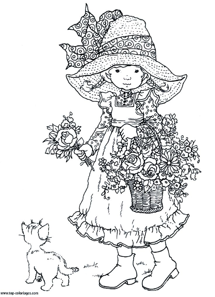 201 Best Coloriage Sarah Kay Images On Pinterest Holly