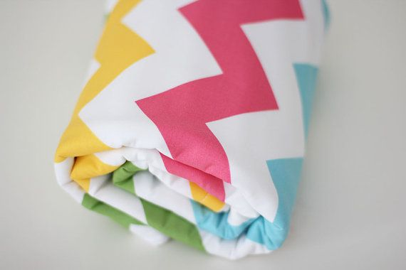 Chevron Rainbow Blanket by raenne on Etsy, $50.00