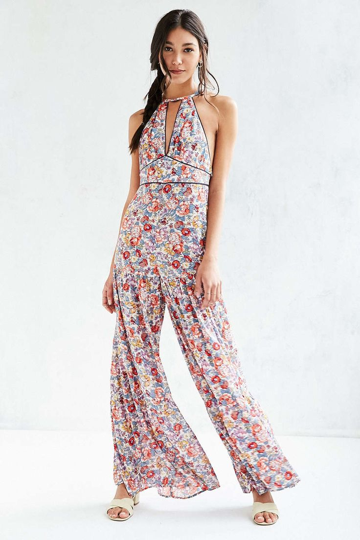 Ecote Bella Novella Floral Jumpsuit - Urban Outfitters