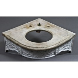 Victorian Corner Sink : rare late 19th century victorian era residential corner sink with ...