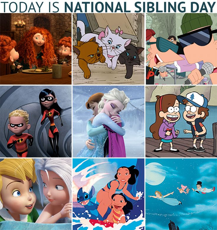Celebrate the Day with you built-in best friend! It's National Sibling Day! #SiblingDay
