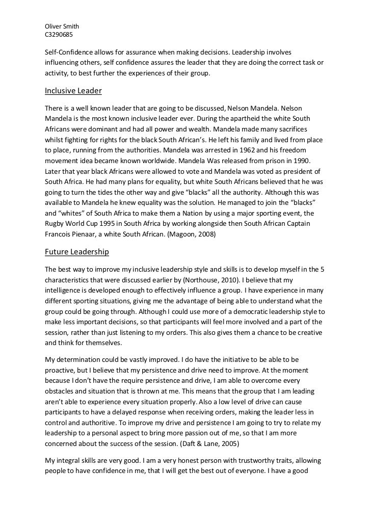 Essay What Is A Leader - Opinion of experts