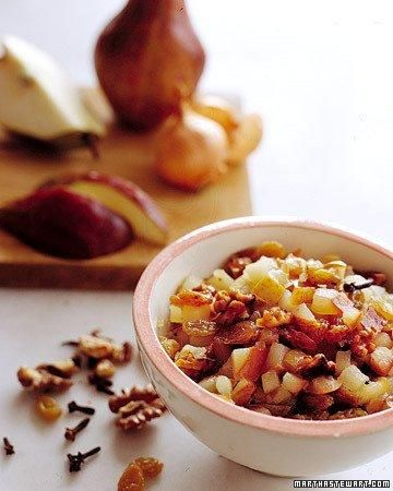 Quick Pear Chutney Recipe - but no walnuts for me.