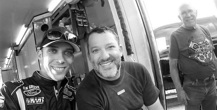 Bryan Clauson and Tony Stewart.  https://www.fanprint.com/stores/nascar-?ref=5750