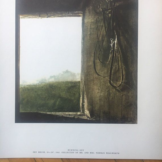 "Andrew Wyeth ""Burning Off"" Lithograph from ""Four Seasons - 12 Reproductions"" Art Print Set"
