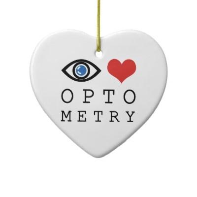 Optométrie d'amour d'oeil décorations pour sapins de noël de Zazzle.fr