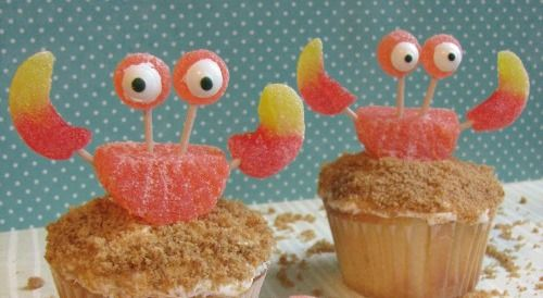 Crab cupcakes. So cute!