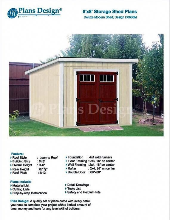 Easy To Build A Simple Modern Storage Shed Project Is Ideal For The Beginner Who Wants A Shed With Lots Of Space Shed Design Shed Plans Building A Shed Roof