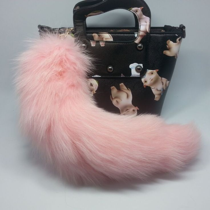 Large 35cm 100% Real Fox Tail Keychain Fur Tassel Car Key ring Bag Charm CF22