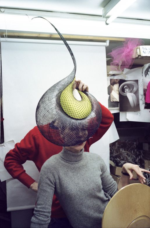 """kevin davies, 69 elizabeth street. in the studio, 1999. """"The Milliner: Philip Treacy by Kevin Davies"""" http://lightbox.time.com/2013/02/28/the-milliner-philip-treacy-by-kevin-davies/?iid=lb-gal-viewagn#11"""