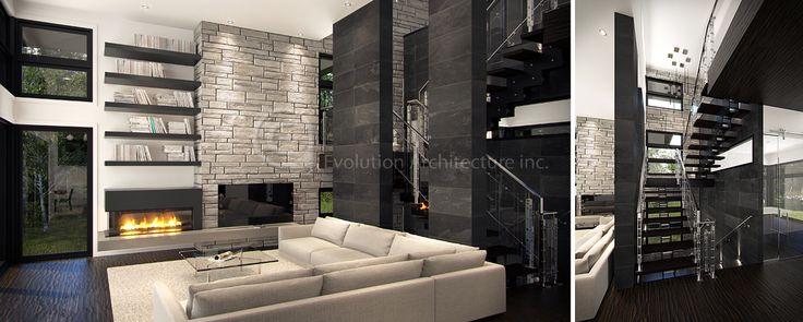 Evolution Architecture,salon moderne,design intérieur exclusif E-765