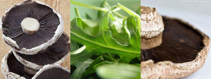 Yummie recept voor gevulde portobello op een bedje van rucola. Buon appetito!