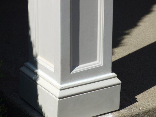 35 best square columns images on pinterest home ideas for Fiberglass square columns