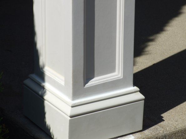 Square column for the home pinterest for Square porch columns