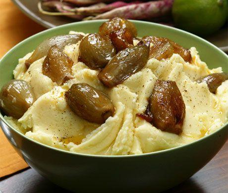 Mashed Yukon Gold Potatoes with Caramelized Shallots. Holiday favorite ...