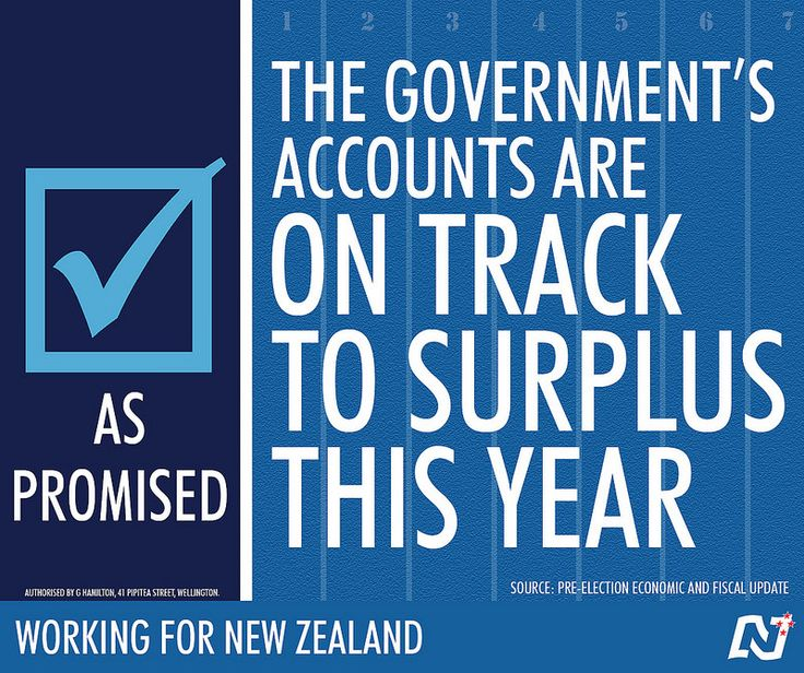 Under National we're on track to surplus, more jobs and higher incomes. http://ntnl.org.nz/1w34xEk #Working4NZ