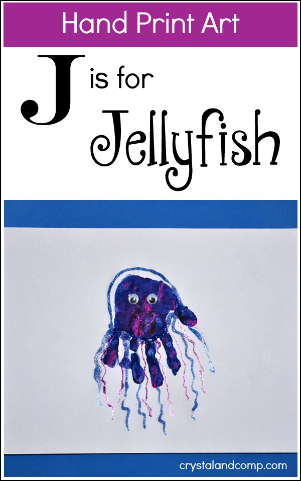 Are you ready for some fun activities for kids as you teach your little one the letter J? This week our hand print art is gorgeous! We're making a jellyfish! What are some other words you can think...
