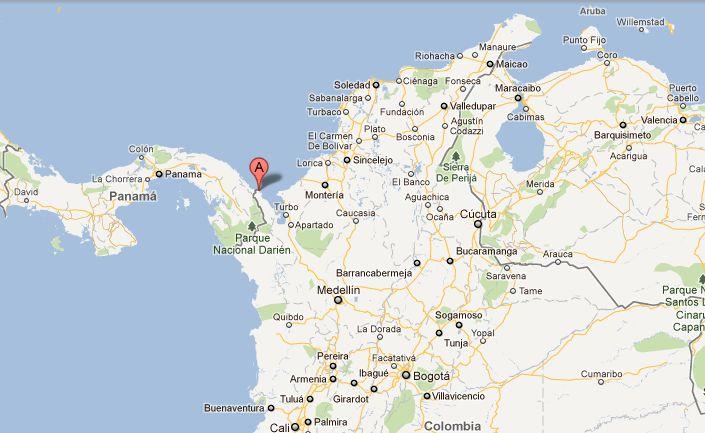 Donde queda Capurganá. Mapa de Capurganá.