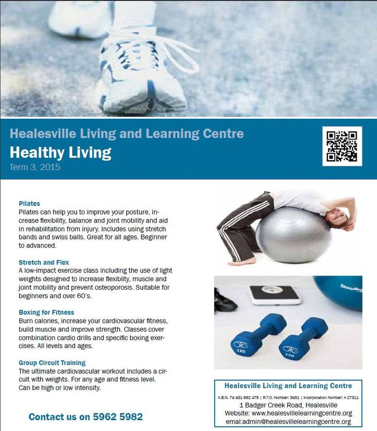 Get fit and fabulous at Healesville Living and Learning Centre - Term 3, 2105 http://www.healesvillelearningcentre.org