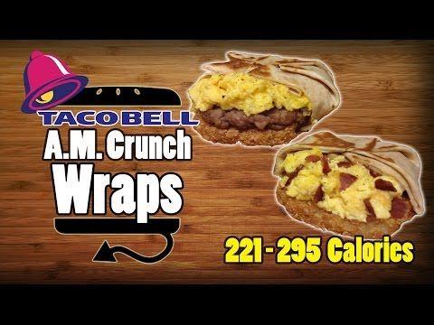 Taco Bell Breakfast AM Crunchwrap Sausage & Turkey Bacon Remake Recipe ~ 221 - 295 Calories