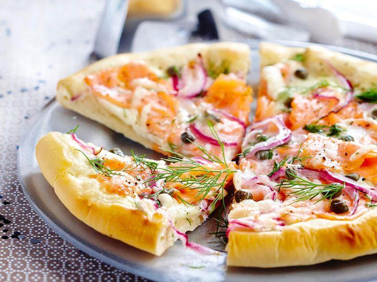 Pizza au saumon fumé, facile et pas cher
